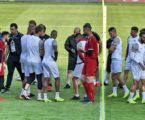 Latihan menjelang pertandingan antara Palestia VS Yordania (Foto the-afc)
