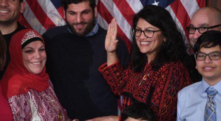 Anggota Kongres AS Rashida Tlaib Tutup Kata  'Israel' di Peta di Dinding Kantornya