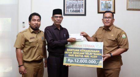 Baitul Mal Aceh Sumbang untuk Korban Tsunami Selat Sunda