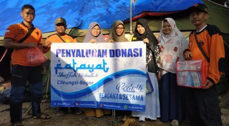 Fatayat Jamaah Muslimin (Hizbullah) Salurkan Bantuan Pada Korban Tsunami Selat Sunda
