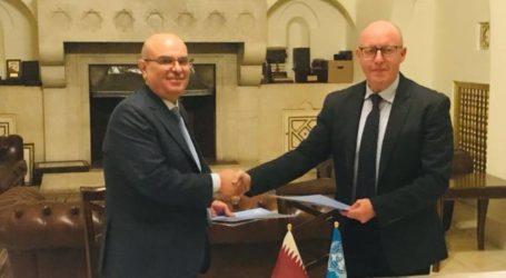 Qatar, PBB Tandatangani Nota Kesepahaman Program Bantuan untuk Gaza