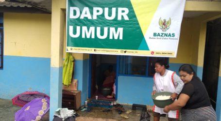 Baznas Dirikan Dapur Umum Layani Korban Banjir Sentani