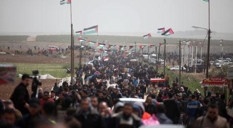 Lebih 40.000 Warga Palestina Protes dalam Peringatan Setahun Great March of Return