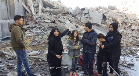 PCHR: Serangan Udara Israel di Gaza Akibatkan 13 Keluarga Mengungsi