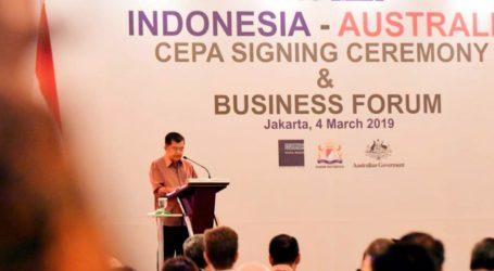 Indonesia-Australia Tandatangani Perjanjian Kemitraan Komprehensif Ekonomi