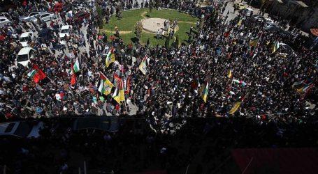Ribuan Orang Hadiri Pemakaman Dua Pemuda Palestina yang Gugur