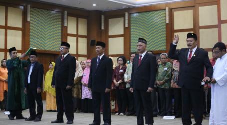 Menristekdikti Lantik Dua Rektor dan Tiga Direktur PTN