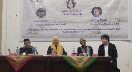 Peneliti Jepang: Persatuan Orang Aceh Modal Merawat Perdamaian