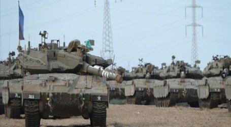 Tank-Tank Israel Siaga Satu di Perbatasan Gaza