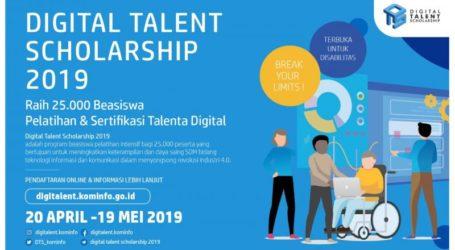 Kemkominfo Buka Pendaftaran 25.000 Beasiswa Program Digital Talent