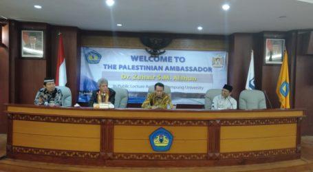 Dubes Palestina Isi Kuliah Umum di Universitas Lampung