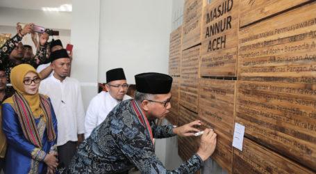 Masjid Bantuan Masyarakat Aceh untuk Korban Gempa Lombok Diresmikan