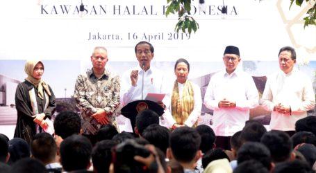 Presiden Jokowi Resmikan Halal Park di Kawasan GBK