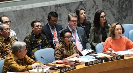 Menlu Banggakan Pasukan Perdamaian RI Saat Pimpin Sidang DK PBB