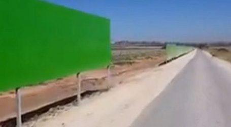 Israel Bangun Dinding Pembatas Baru di Jalan Perbatasan dengan Gaza