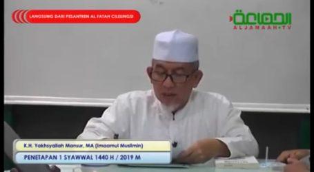 Jama'ah Muslimin Tetapkan 1 Syawal Selasa 4 Juni 2019