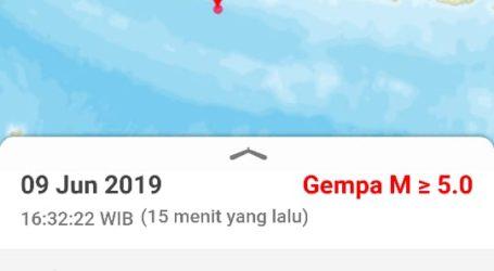 Gempa Tektonik M 5,7 Guncang Cilacap