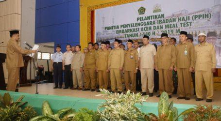 PPIH Embarkasi Aceh Tahun 2019 Dilantik