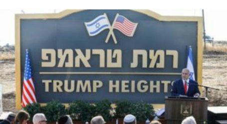 """Netanyahu Resmikan Komunitas """"Trump Heights"""" di Golan"""