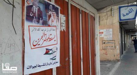 Tolak Konferensi Bahrain, Warga Gaza Lakukan Aksi Mogok Massal
