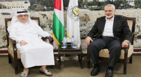 Haniyeh Bertemu Dubes Qatar Bahas Jalur Gaza