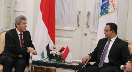 Anies-Dubes Zuhair Bahas Potensi Hubungan Ekonomi Jakarta-Palestina