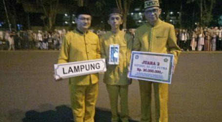 Wakili Lampung, Ibnu Kholdun Juara Dua STQH Nasional Kategori 30 Juz Putra
