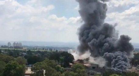 Pabrik Bom Asap Israel Terbakar