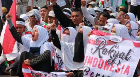 Ratusan Massa Ikut Aksi Damai Solidaritas Bela Al Aqsa
