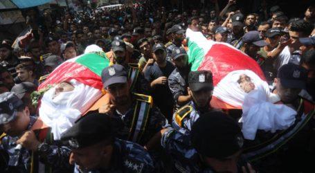 Dua Polisi Korban Ledakan Gaza Dimakamkan