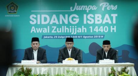 Pemerintah Tetapkan 1 Zulhijjah 1440H Jatuh 2 Agustus 2019