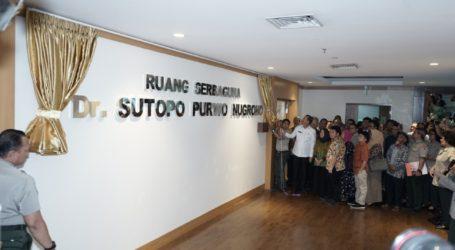 Kepala BNPB Resmikan Ruang Sutopo Purwo Nugroho