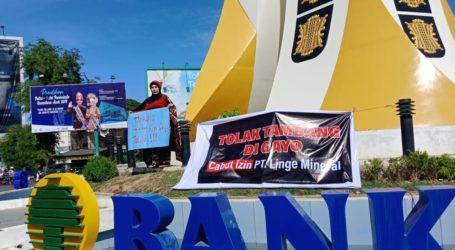 Aktivis Gelar Aksi Treatikal Tolak Tambang di Aceh Tengah
