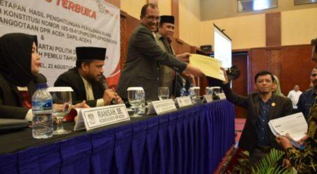 KIP Aceh Tetapkan 81 Anggota DPRA Priode 2019-2014