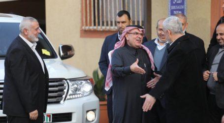 Ketua Komite Nasional Qatar untuk Rekonstruksi Gaza Tiba di Gaza
