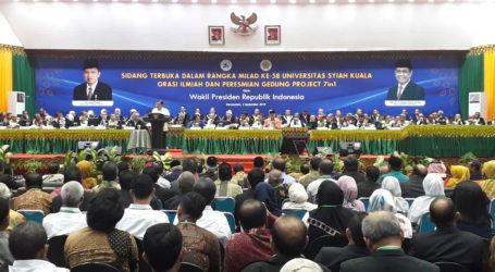 Jusuf Kalla Sampaikan Orasi Ilmiah pada Milad ke 58 Universitas Syiah Kuala