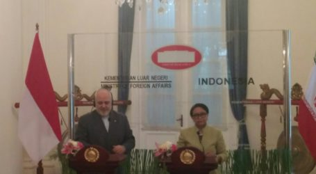 Menlu Indonesia dan Menlu Iran Dorong Perdamaian di Timteng dan Palestina