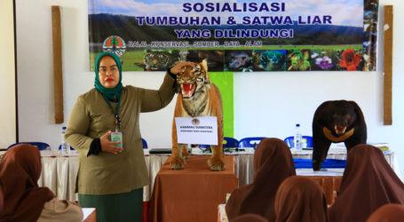 BKSDA Sosialisasikan Tumbuhan dan Satwa Dilindungi Kepada Siswa