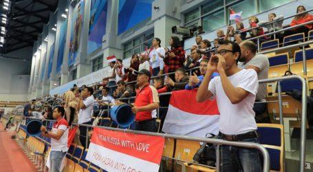 Aksi Unik Suporter Indonesia pada Final Kejuaraan Dunia Bulutangkis Junior 2019