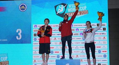 Aries Susanti Raih Emas dan Pecahkan Rekor di Piala Dunia Panjat Tebing