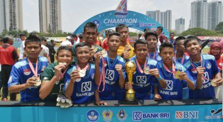 Juara Pertama Kompetisi Sepak Bola GSI 2019 Diraih Jateng