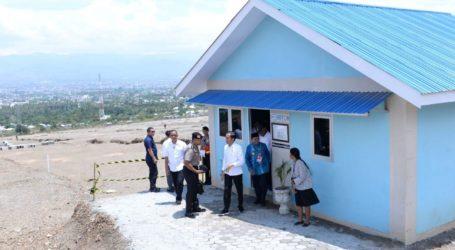 Presiden Joko Widodo Tinjau Pembangunan Hunian Tetap di Palu