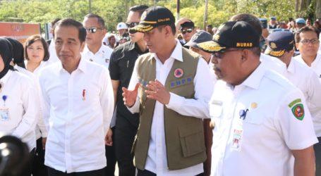 Presiden Jokowi Kunjungi Ambon Tinjau Pengungsi