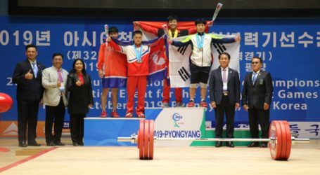 Atlet-Atlet Yunior Indonesia Pecahkan Rekor Dunia Angkat Besi di Korea Utara