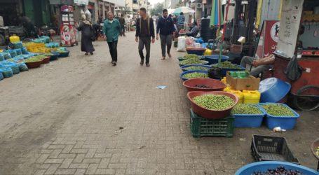 Pasar Zaitun di Khan Younis