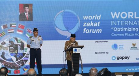 Wapres Ma'ruf Amin Buka Konferensi World Zakat Forum di Bandung
