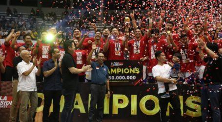 Satria Muda Pertamina Juara Kejuaraan Basket Piala Presiden