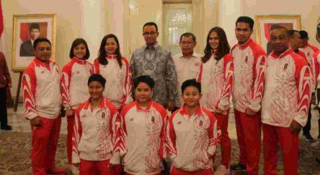 Pelepasan Kontingen DKI Jakarta di SEA Games XXX, Gubernur Anies Targetkan Peringkat Dua Besar