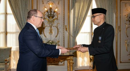 Dubes Nasir Serahkan Surat Kepercayaan kepada Pangeran Monako
