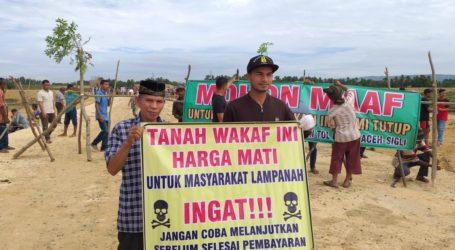 Ganti Wakaf Masjid Belum Dibayar Warga Aceh Besar Blokir Jalan Tol